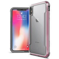 Чехол X-Doria Defense Shield для iPhone Xs Max Rose gold/clear